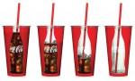 Conceito criativo para um copo de Coca-Cola