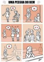 Pessoas do bem estão na igreja