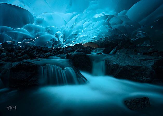Cavernas de gelo de Mendenhall, Alasca